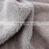 Faux fur with polyester or acrylic fabric