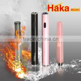 Best selling e cigarette 510 battery, e cig 510 battery HaKa mini LED passthrough battery
