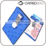 Luxury High Quality Genuine Ostrich Skin Leather RFID Credit Card Holder Wallet with money clip