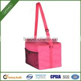 Pink China 210D/420D/600D&foam&silver paper insulated commercial cooler bag,commercial cooler bag