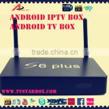 2015 android smart tv box black plastic case alwinner hd quad core android iptv box i6s plus