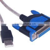 USB 2.0 to DB25 Female Port Print Converter Cable Cord LPT win7 win8 32&64 bit MAC OS