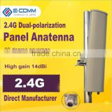 2.4Ghz 14dBi outdoor directional sector dual polarization panel MIMO antenna for WLAN/WIFI