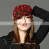 Printed Pattern Custom Military Style Baseball Cap Flat Top Cap