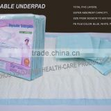 Disposable underpad, Bed Sheet, incontience under pad