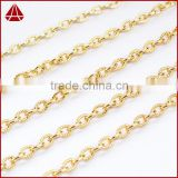 16 Inch 14K Gold Plated Copper Decorative brass chain antique brass chain