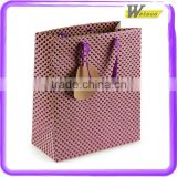 Hot Selling Purple spot embossed small gift bags making machine cream gift paper handle bags