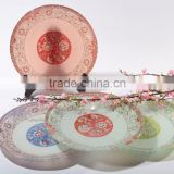 Beautiful home decor tempered glass plate