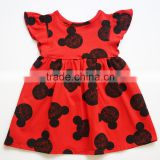 wholesale children's boutique clothing baby girl dress animal pattern nice dresses for girls