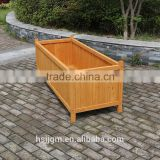outdoor wooden large chinese garden pots