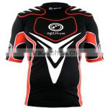 Rugby protection padded top American Football pro combat compression gear padded protection wear
