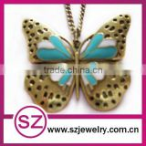 Cheap vintage butterfly necklace jewlery wholesale