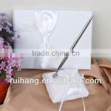 Elegance white butterfly wedding guest book /wedding pen holder/wedding accessories series--WA002