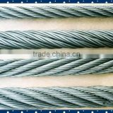 Electric used 5mm Bright 316 Stainless Steel Wire Rope 1960MPA , 6x19+I WRC AISI / BS / ASTM