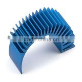 Half round aluminum extruded heatsink,aluminum extruded heatsink blue anodized                                                                         Quality Choice