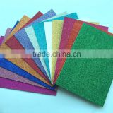multi-color glitter eva foam/eva shiny Glitter sticker /color glitter adhesive eva foam