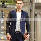 Men casual suit knitted fabric jacket fashion blazer free shipping
