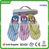 cheap women new style flip flops in africa, injection wedge flip flop slippers