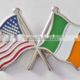 Cheap Customized Regional Country cross National Flag Enamel Metal Pin Badge