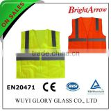 100% polyester EN 20471 safety reflective women's reflecting high visibility vest for usa from china