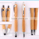 Eco-friendly stylus ballpoint pen made of bamboo metal clip/ECo pen/eco hot selling promotional ballpoint bamboo pen