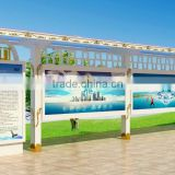 Advertising Bus Stop Shelter /Outdoor furniture bus stop shelter/Bus shelter with advertising board