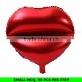 Hot Sale Fashion Red Lip Foil Balloon Valentines Day Decorations