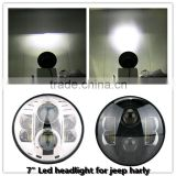 "High power led car headlight 7"" Round LED Head lamp 48W Car Led Headlights H4 H13 for Jee-p Wrangler Toyota Harley"