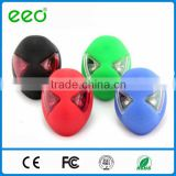 High power silicone spiderman shape bicycle tail light 3 mode rechargeable usb rear bike light