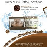 """KIYONO"" DETOX WHITE COFFEE NATURAL SOAP FOR BATH AND BODY SKIN WHITENING SOAP"