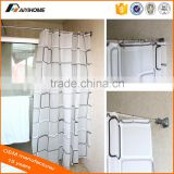 Bathroom strainght extension flexible shower curtain rod, household essentials adjustable telescopic shower curtain rail