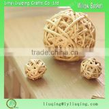 Decorating christmas big balls/Round rattan christmas balls/Wicker ball
