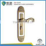 Entrance stainless steel wooden door handle set on cover plates