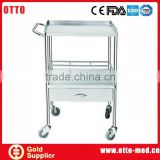 Stainless steel hospital trolley for sale