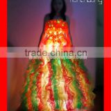 Remote Control LED Western Ballroom Dance Dress For Girls