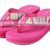 High Heel wedge Flip Flops Beach Sandal Slippers