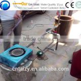portable home use wood chips gasifier stove