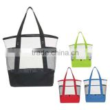 yiwu factory custom fashion pvc protable beach tote bag transparent waterproof shopping bag