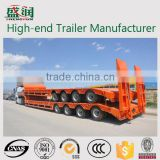 Flat Low Trailer / 80ton-100ton 4 Axle Concave Beam Hydraulic Low Bed Trailer / Low Flat Truck Semi Trailer (customized)