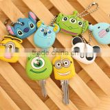 promotional wholesale cheap keychain, minion rubber keychain,Best selling high quality 3D soft pvc custom keychain