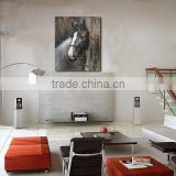 High Quality Wooded Home Decoration Animal Handmade Horse painting Art Wall Oil Painting on board BM003