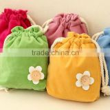 18.5*15.5cm In Stock Drawstring Pouches Jewelry Wedding Velvet Storage Gift Bag Velvet Cosmetic Pouch