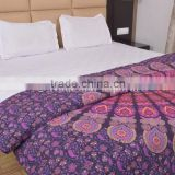 Indian Ethnic Mandala Duvet Cover Set Cotton Blanket Doona Covers Boho Quilt Covers Hippie Bedding Throw