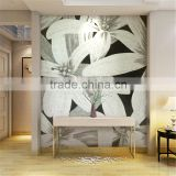 HYB-SMC Glass mosaic pictures pattern Flower hanging picture for wall art murals house decoration
