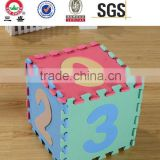 Factory EVA puzzle kids mat / indoor playground mat / EVA foam puzzle tile / 0-9 number interlocking mat