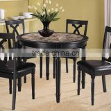 Chinese wooden chair button tufted for restaurant dining room