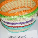 plastic storage/ gift basket; colors pp baskets