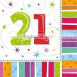 Adult Milestone Age Party Supplies 21st Birthday Party Supplies Tableware and Decorations Radiant 21st Birthday Napkins
