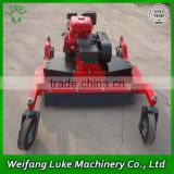 ATV towable grass cutter finishing mower with engine
