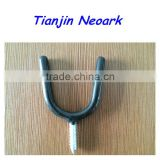 "U-Shaped Tool Hook,Bike Hook,Bicycle Hook,Storage Hook,Wall Hook,Steel Screw Hook,PVC Coated 3/8""x2-3/4""x5"""